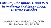 Calcium, Phosphorus, and PTH in Pediatric End-Stage Renal Disease Patients icon