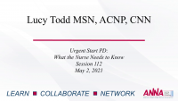 Urgent Start Peritoneal Dialysis (PD): What Nurses Need to Know