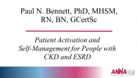 Patient Activation and Self-Management for People with CKD and ESRD