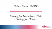 Caring for Ourselves While Caring for Others