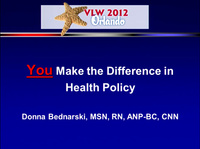 You Make the Difference in Health Policy icon