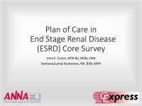 Plan of Care in End Stage Renal Disease (ESRD) Core Survey icon