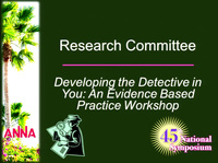 Developing the Detective in You: An Evidence-Based Practice Workshop icon