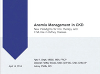Anemia Management in CKD: New Paradigms for Iron Therapy and ESA Use