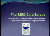 Issues in Management: The ESRD Core Survey: Collaborating to Improve Care - Using Your Facility Data to Focus Survey Review and Facilitate Improvement icon