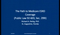 A Retrospective Look at Highlights of Federal Government Policy Toward Treatment of End-Stage Renal Disease