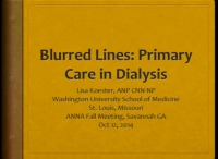Blurred Lines: Primary Care in Dialysis