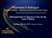 Clinical Concerns in Acute Care - Management of Sepsis in the Acute Care Patient