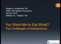 You Want Me to Eat What? The Challenges of Adolescence