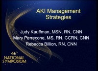 Clinical Concerns in Acute Care - AKI Management Strategies