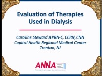 Issues in Acute Care - Evaluation of Therapies Used in Dialysis icon