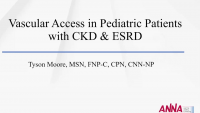 Vascular Access in Pediatric Patients with CKD & ESRD  icon