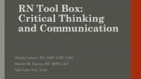 RN Toolbox: Critical Thinking - Collaboration and Professional Communication