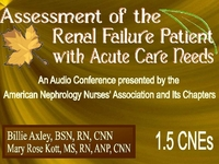 Fall 2007 - Assessment of the Renal Failure Patient w/ Acute Care Needs icon