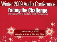 Winter 2009 - Facing the Challenge: Making Sense of the New CMS Regulations icon