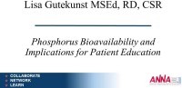 Phosphorus Bioavailability and Implications for Patient Education