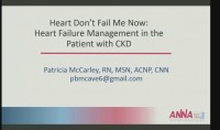 Heart Don't Fail Me Now: Heart Failure Management in the CKD Patient icon