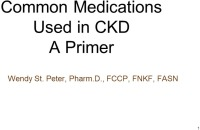 Common Medications Used in CKD: A Primer