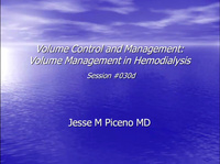 Volume Control and Management: Volume Management in Hemodialysis