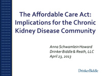 The Affordable Care Act (ACA) and its Impact on CKD