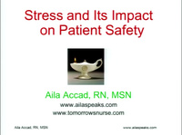 Stress Management and its Impact on Patient Safety