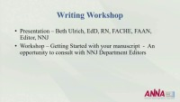 From Idea to Article: Writing for Publication Workshop