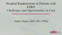 Hospital Readmission in ESRD Patients: Challenges and Opportunities in Care