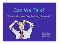 Can We Talk? What is Human Dog Training Anyway? icon