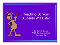 Teaching So Your Students Will Listen icon