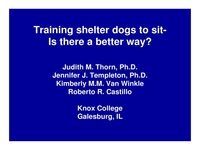 Current Scientific Research in Dog Behavior, Parts I and II icon