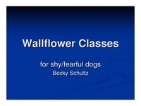 Wallflower Classes for the Shy/Fearful Dog icon