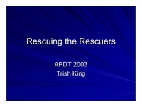 General Session:  Educating Clients:  Rescuing the Rescuers icon