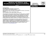 Status of Ethics and Professional Responsibility icon