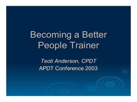 Becoming a Better Person Trainer icon