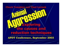 Animal Aggression:  Exploring the Cause and Reduction Techniques icon