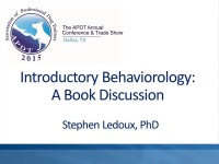 Introductory Behaviorology: A Book Discussion icon
