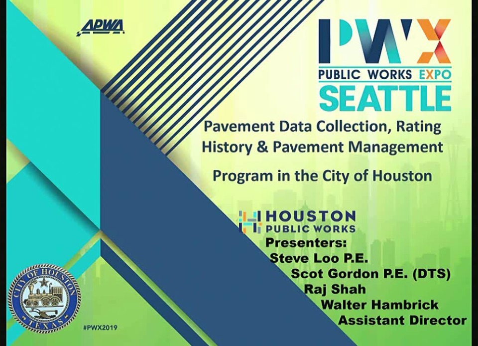 Pavement Data Collection, Rating History & Pavement Management Program in the City of Houston icon