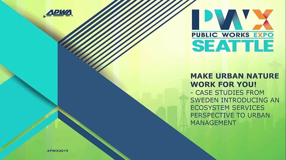 INTERNATIONAL PERSPECTIVE: Make Urban Nature Work for You! Case Studies from Sweden Introducing an Ecosystem Services Perspective to Urban Management icon