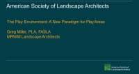 The Play Environment: A New Paradigm for Play Areas – 1.0 PDH (LA CES/HSW) icon