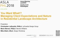 You Want What!? Managing Client Expectations and Nature in Residential Landscape Architecture - 1.5 PDH (LA CES/HSW)