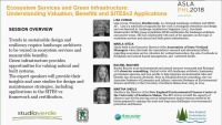 Ecosystem Services and Green Infrastructure: Understanding Valuation, Benefits, and SITES v2 Applications - 1.5 PDH (LA CES/HSW) / 1.5 GBCI SITES-specific CE