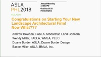Congratulations on Starting Your New Landscape Architectural Firm! Now What??? - 1.5 PDH (LA CES/non-HSW)