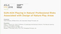 Playing in Nature! Professional Risks Associated with Design of Nature Play Areas - 1.5 PDH (LA CES/HSW)