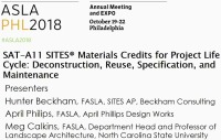 SITES® Materials Credits for Project Life Cycle: Deconstruction, Reuse, Specification, and Maintenance - 1.5 PDH (LA CES/HSW) / 1.5 SITES-specific GBCI CE