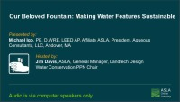 Our Beloved Fountain: Making Water Features Sustainable - 1.0 PDH (LA CES/HSW) icon