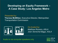 Developing an Equity Framework - A Case Study: Los Angeles Metro - 1.0 PDH (LA CES/HSW) icon