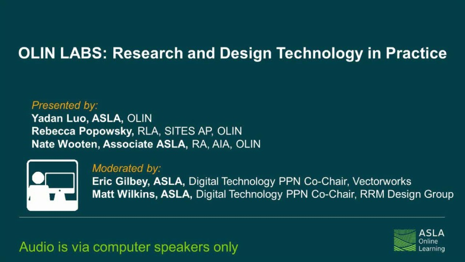 OLIN LABS: Research and Design Technology in Practice - 1.0 PDH (LA CES/HSW) icon