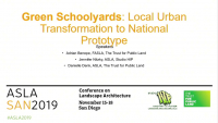 Green Schoolyards: Local Urban Transformation to National Prototype - 1.25 PDH (LA CES/HSW)
