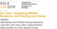 Hot Topic: Integrating Wildfire Resilience into Planning and Design - 1.25 PDH (LA CES/HSW)