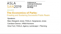 The Economics of Parks: Creating and Sustaining Successful Public Realm - 1.0 PDH (LA CES/HSW)